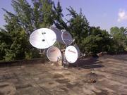 Настройка,  установка,  спутниковых антенн и тюнеров.Полный сервис.